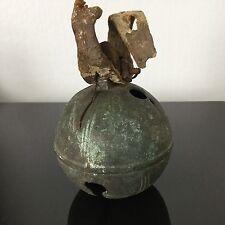 Gros Grelot 8 cm Ancien en Bronze T.8 Diligence Attelage XIXè