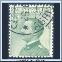 1927 Italia Regno Michetti cent. 25 verde n. 219 Usato []