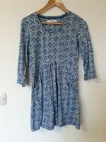 Seasalt Organic Cotton Floral Retro Print Tunic Top With Pockets Size 10