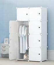 Sortwise® DIY 8 Cubes Portable Clothes Closet Organizer Wardrobe Storage Shelves