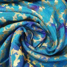 "Indian Vintage Tie Dye Jacquard Banarasi Brocade Dress Décor Cushion Fabric 44"""