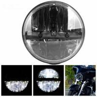 "7"" Inch Round LED Headlight Black Hi/Lo Beam Headlamp For Jeep Wrangler JK TJ LJ"