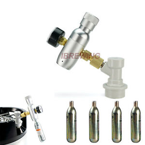 Home Brew Regulated CO2 Charger Kit with 4 x 16g Cartridge Gas Disconnect