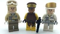LEGO LOT OF 3 STAR WARS MINIFIGURES JEDI HOTH REBEL TROOPERS FIGURES