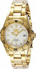 New Men's Invicta 8938 Pro Diver White Dial Gold Tone Stainless Steel Watch