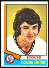 1974-75 OPC O PEE CHEE HOCKEY #114 RICHARD LEMIEUX EX-NM KANSAS CITY SCOUTS CARD