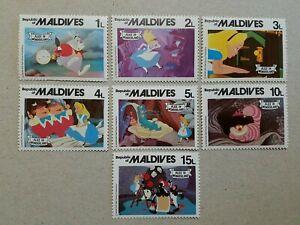 Maldives Alice in Wonderland Disney Stamps MNH
