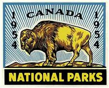 Canada National Park   Sticker Vintage Looking 1954  Travel Decal  Luggage Label