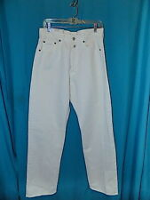 NWT!  REPLAY 901 WHITE BUTTON FLY JEANS, ITALY, STRAIGHT LEG, MEN'S, 31 x 31 3/4