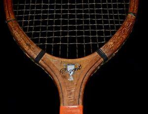 Antique Vintage Wood 1920s KENT Regent Tennis Racket Pawtucket, RI