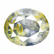 2.205CT MARVELOUS LUSTER PURPLISH YELLOW UNHEATED  NATURAL SAPPHIRE OVAL