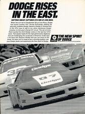 1988 Dodge Daytona Shelby Lime Rock Race - Advertisement Car Print Ad J306