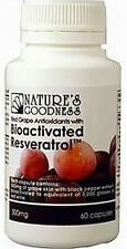 Nature's Goodness Bioactivated Resveratrol - Red Grape Antioxidant- 60s