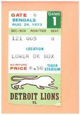Cincinnati Bengals at Detroit Lions 8-24-1973 NFL ticket stub Tiger Stadium