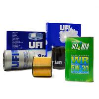 Kit tagliando Fiat 500 1.3 Multijet Mjet 70kw 95cv filtri UFI 4l Selenia WR 5w30