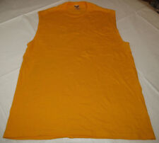 Jerzees Heavyweight Cotton adult L large lg mens sleeveless shirt yellow NOS