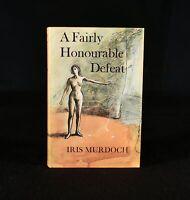 1970 Iris Murdoch A Fairly Honourable Defeat 1st Edition Dustwrapper