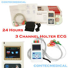 Dynamic ECG System TLC9803 CONTEC 3 Channels Holter ECG machine 24hours Recorder