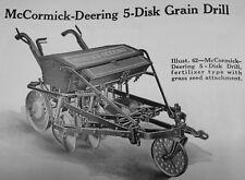 Ihc Mccormick Deering 5 Disk Drill Walk Behind Horse Drawn Grain Drill Manual Ih