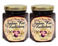 Shadow River Wild Huckleberry Gourmet Jam 8 oz Jar (2-Pack) Fruit Preserves