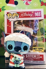 Funko Pop Disney Santa Stitch with Scrump #983 Hot Topic Exclusive NEW 🔥983