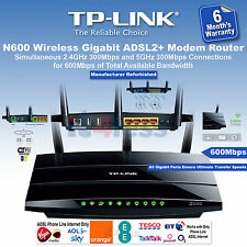 TP-LINK TD-W8980 Wireless ADSL2+ Modem Router  N600 Dual Band Black 600Mbps