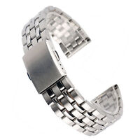 Watch Band Strap Silver Stainless Steel Replacement Bracelet Fold Clasp 18/20mm