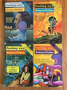 Magazine Of Fantasy And Science Fiction (US) 4 issues 1972-73