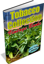 TOBACCO COLLECTION 120 VINTAGE BOOKS ON DVD - smoking, cigars, cigarettes, pipes