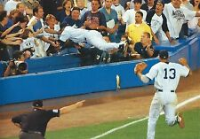 NEW YORK YANKEES DEREK JETER DIVES INTO THE STANDS TO MAKE PLAY VS BOSTON !!