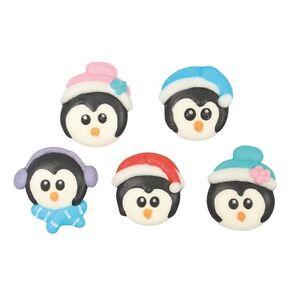 Christmas Penguins Sugar Pipings x 10 Edible Cake Decorations