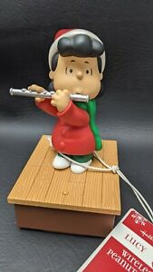 Hallmark 2011 Wireless Peanuts Band Lucy on Flute with Tag - Works! See Video