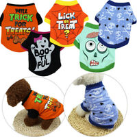 Pets Clothes Halloween Vest Dog Sweatshirts Cotton Apparel Cat Coat Jacket XS-XL