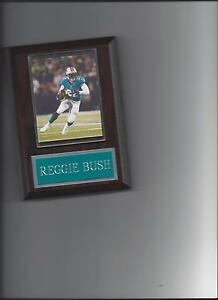 REGGIE BUSH PLAQUE MIAMI DOLPHINS FOOTBALL NFL