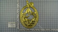BRASS PRESSED SHEET LENTICLE OR TAIL ORNAMENT FRIESIAN TAIL CLOCK FATHER TIME