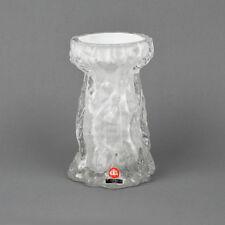 Vintage Hyazinthen Vase / Ice Glass, Borkendesign / Ingrid Glas / Rinde / Borke