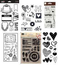 6 Sets Clear Stamps - Love Pack - Hearts, Wedding, Valentine, Together, Shower