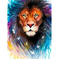 DIY Full 5D Diamond Painting Cross Stitich Green-Eyed Lion Kits Art for Child