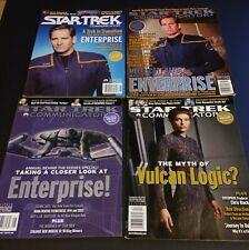 (4) Star Trek Communicator, Official Club Magazines; Issues #135 #143 #144 #145