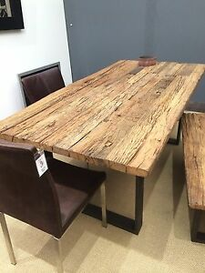 Esstisch Tisch Teakholz Industriedesign Vintage Metall