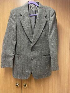 Men's  Green Tweed Smart Jacket From  Hepworths (Designed By Hardy Amis) Medium