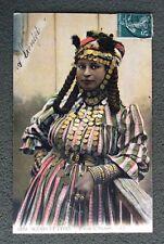 CPA. Algérie. Femme de BOGHARI. Scènes et Types. Bijoux. 1910?