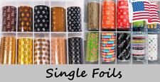 Nail Foils Transfer Stickers Decal / Single Foil 1 Yard