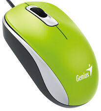 Genius Dx-110 Green USB Full Size Optical Mouse 31010116105