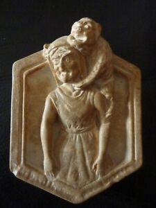 Curious gargoyle plaque- 1903 dated - Compton style pottery