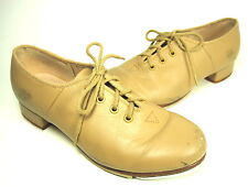 BLOCH DANCE LITTLE KID'S JAZZ TAP SHOES TAN LEATHER US SIZE 1 MEDIUM - PRE-OWNED