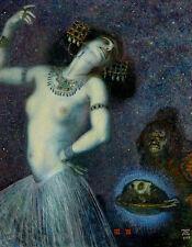 Salome by Franz von Stuck A2+ High Quality Canvas Print