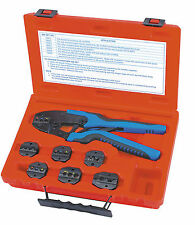 CRIMPER QUICK CHANGE RATCHETING TERMINAL CRIMPER WITH  7 DIES