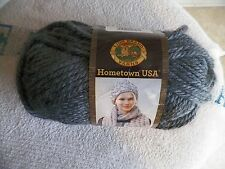 Lion Brand Hometown USA yarn 1 skein 5 oz Chicago Charcoal color (1 available)