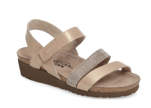 NAOT Womens Champagne Leather Krista Comfort Sandals, Size EU 41, New